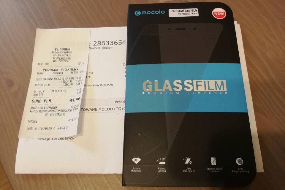 szkło Mocolo do Huawei Mate 10 Lite - opakowanie