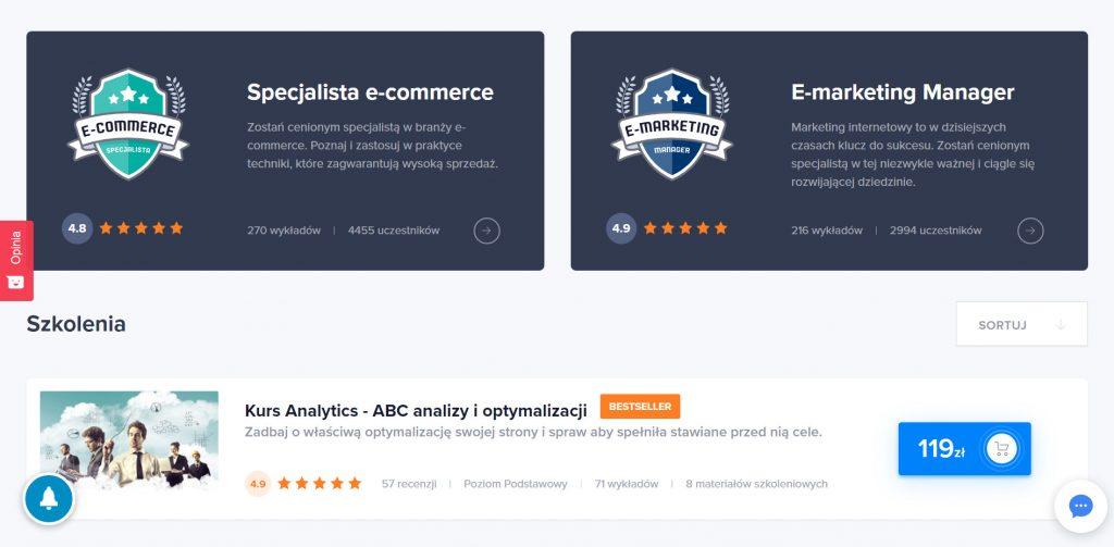 Kursy online z Google Analytics