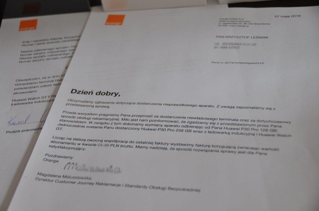 finalne pismo z Orange